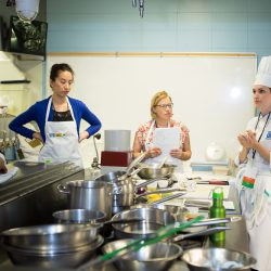Chefs in the kitchen at George Brown College