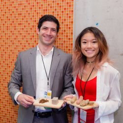 Two attendees at ambition nutrition symposium
