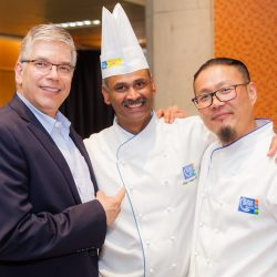 2 chefs and a speaker at the ambition nutrition symposium