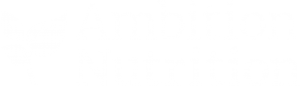 Ambition Nutrition logo with a flower in it